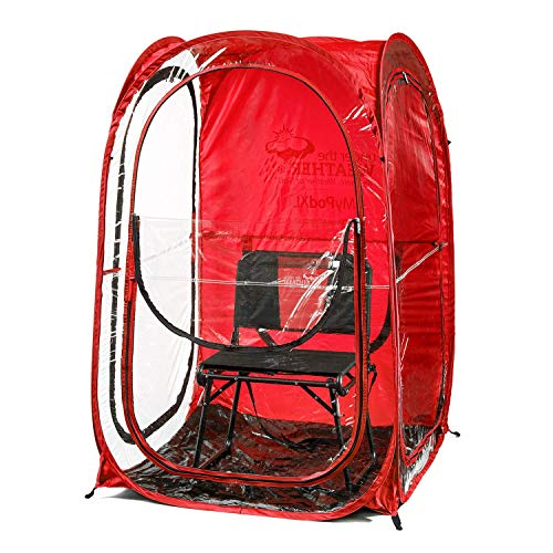 Under the Weather MyPod XL - Pop-Up Weather Pod, Protection from Cold, Wind and Rain - Red