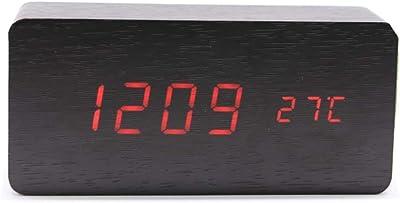 Mifusanahorn Reloj Despertador con Cargador USB y Mesa de Escritorio electrónica Digital Relojes de Alarma