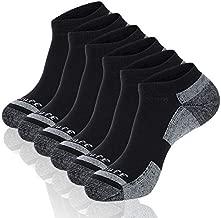Heatuff Mens 6 Pack Low Cut Athletic Performance Moisture Wicking Cushion Ankle Socks, Reinforced Heel & Toe For All Seasons
