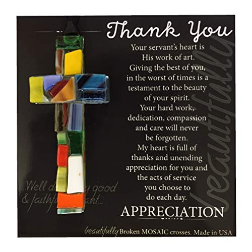 Heartfelt Sentiment with Handmade Cross - Thank You Gift/Gratitude Gift/Appreciation Gift