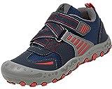 Mishansha Garçons Chaussures de Marche Filles Randonnée Chaussures Pour Enfants Basses Chaussures - Bleu et Gris - 29