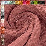 Waffelpique Stoff Lisa, STANDARD 100 by OEKO-TEX, altrosa