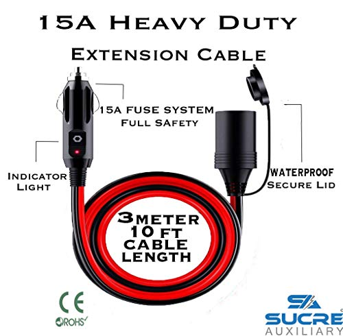 Auto Barca Sucre Auxiliary /® 12 V//24 V USB 4,2 A Totale 2 x 2,1 A voltmetro ad Alta Potenza Doppia Presa accendisigari per Moto