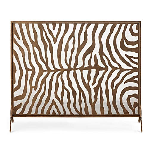 Lowest Prices! Unique Design Fireplace Screen - 38×7.9×30inch, Spark Guard Standing Gate, Wood Bur...