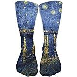 remmber me Mujeres Hombres Clásicos Calcetines Noche estrellada sobre el Ródano Vincent Van Gogh Medias atléticas Calcetines largos de 30 cm Talla única