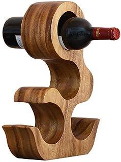 ZLJ 4 Bouteilles casier à vin en Bois Massif Porte-Bouteille de vin Cuisine Salon Support de Rangement Rack