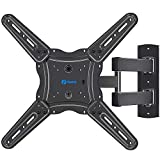 Full Motion TV Wall Mount Bracket, Articulating Arms Swivel Tilt Extension Rotation, Fits Most 26-55 Inch Flat Curved LED LCD OLED TVs, Max VESA 400x400mm Holds up to 88lbs by Pipishell