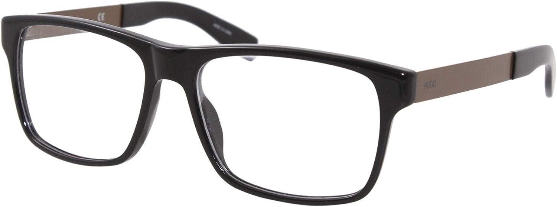 Eyeglasses Hugo hug HG Spring new work 0203 0R60 Super special price Lens Brown Demo 00 Black