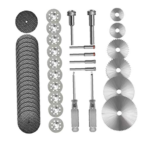 Odoukey HSS Kreissäge Schneidrad Set für Drehwerkzeug Resin Cut Off Discs Combo Cutter Kit 44 Stück