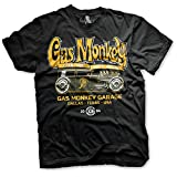 Gas Monkey Garage Officially Licensed - Custom Hot Rods T-Shirt Camiseta T Shirt GMG - 100% Oficial (Large)