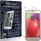 OnScreen Schutzfolie Panzerglas kompatibel mit Motorola Moto E4 Panzerfolie & Glas = biegsames HYBRIDGLAS, Bildschirmschutz, splitterfrei, Anti-Fingerprint KLAR - HD-Clear