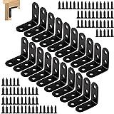 yzwuyou 20 pezzi squadrette angolari staffe per mensole 40 * 40mm e 80 viti giunti di fissaggio ad angolo retto a 90 gradi per mobili, sedie, librerie, armadi