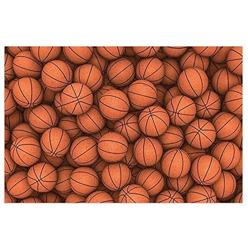 DLJIYZX Felpudo de Baloncesto Naranja Alfombrillas de Entrada PVC Antideslizante Alfombra de pie Alfombra de Cocina Alfombra de baño Alfombra 40X60CM