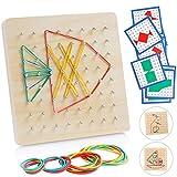 Sunshine smile Holz geoboard Spielzeug,geometriebrett Montessori Spielzeug,Form Puzzle Brett,Montessori Holz Puzzle Spielzeug,Form Puzzle lernspielzeug,holzspielzeug für Kinder
