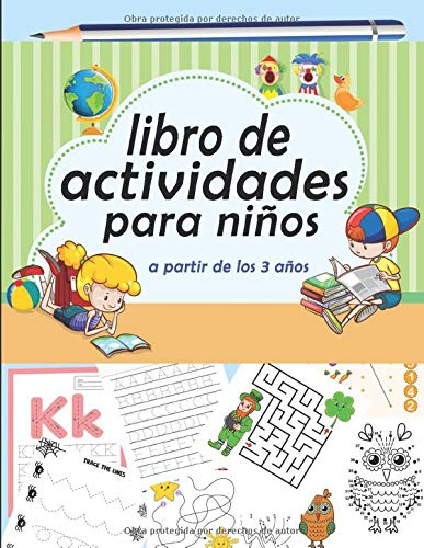 libro de actividades para niños a partir de los 3 años: Pa