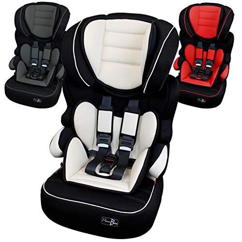 Monsieur Bébé ® Siège auto et rehausseur groupe 1.2.3 de 9 à 36kg - 100%...