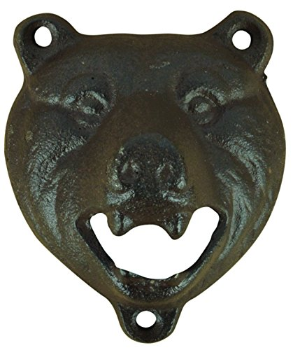 Esschert Design TT205 Série Bear Décapsuleur Marron Vieilli