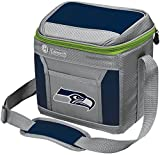 Coleman NFL Soft-Sided Insulated Cooler and Lunch Box Bag, 9-Can Capacity, Seattle Seahawks