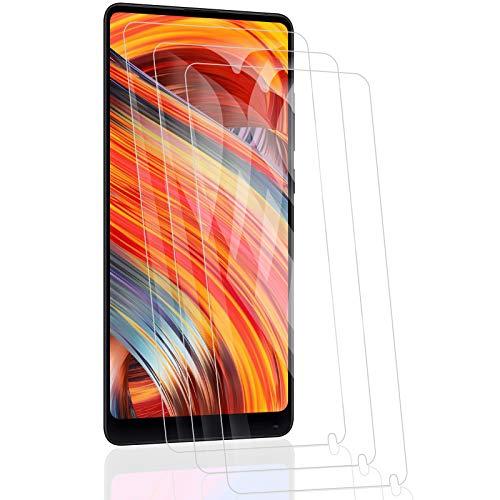 RSSYTZ [3 Pack Protector de Pantalla para Xiaomi Mi Mix 2, [9H Dureza] [Resistente a Arañazos] [Admite la función de Huella Digital] Vidrio Templado Screen Protector para Xiaomi Mi Mix 2