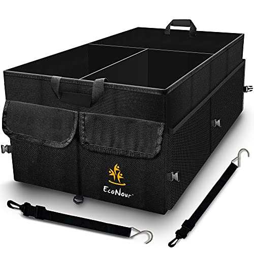 EcoNour Trunk Organizer for Car with Detachable Dividers | Collapsible Caddy...