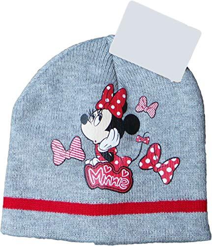 Disney Minnie Maus Wintermütze - Punkte für Minnie - Grau/Rot/Mehrfarbig - Minnie Maus Motiv