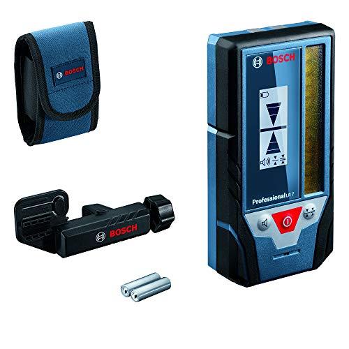 Bosch Professional Laserempfänger LR 7 (roter und grüner Strahl, 2 x AAA Batterien, Reichweite: 5-50 m, Schutztasche)