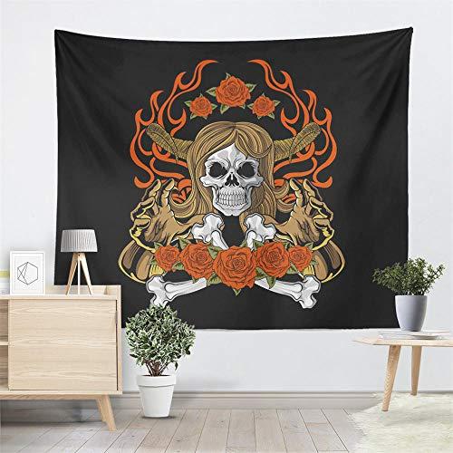 qinheny Tribal Sugar Tapestry Hippie Flowers Pistola Imprimir Colgante de Pared Alfombra Camping Manta Sala de Estar Soft Yoga Mat Ff-13