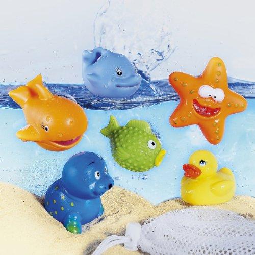 BABY-WALZ Animaux pour le bain jouets aquatiques, multicolore