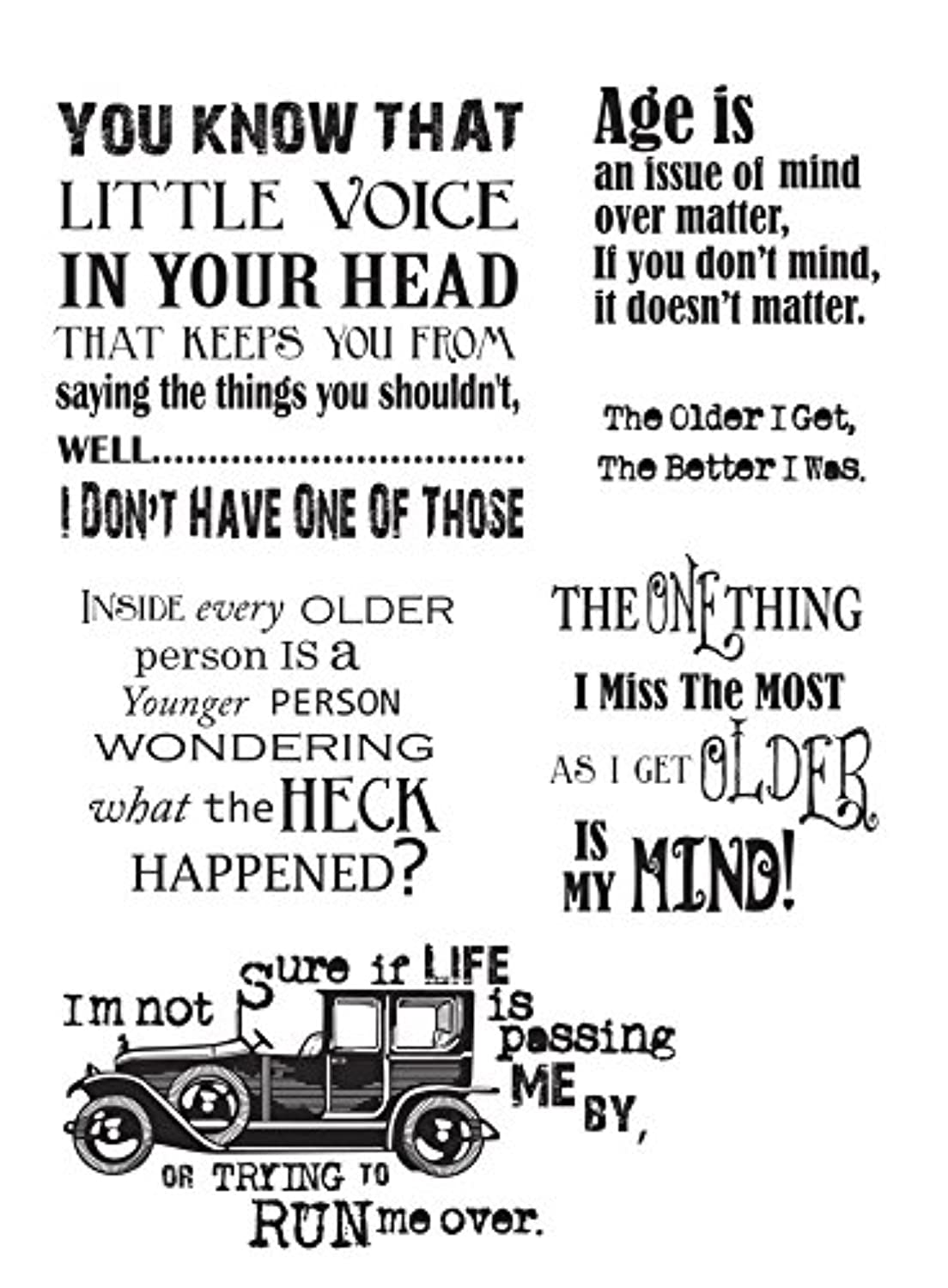 IndigoBlu LVMTD Cling Mounted Stamp, 9.25 by 6.25-Inch, Little Voice