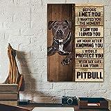 Pitbull Poster & Leinwand HQ 20 x 30 cm Vintage Look Metall