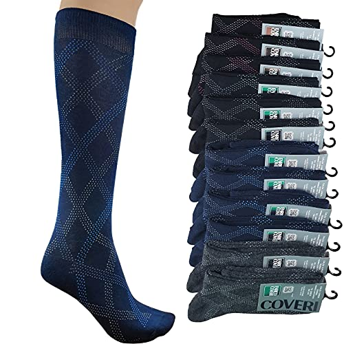 12 pares de calcetines largos para mujer de cálido algodón de invierno, 12 Paia Calze Lunghe -...