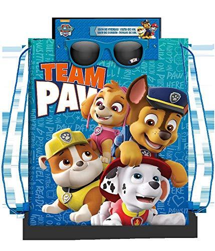 Paw Patrol Set Bolsa Cordones gymbag Gafas de Sol Montañismo, Alpinismo y Trekking Infantil, Juventud Unisex, Multicolor (Multicolor), Talla Única