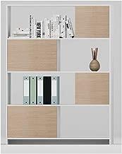 Danube Home Martinus Office Credenza, White/Brown - 120 x 40 x 160 cm