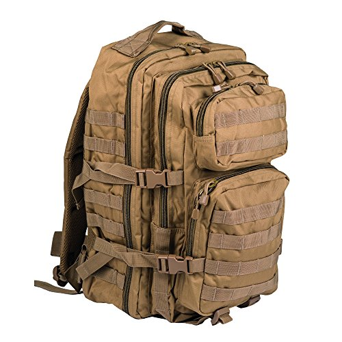 Mil-Tec Military Army Patrol Molle Assault Pack Tactical Combat Rucksack Backpack (Coyote TAN, 36 Liter)