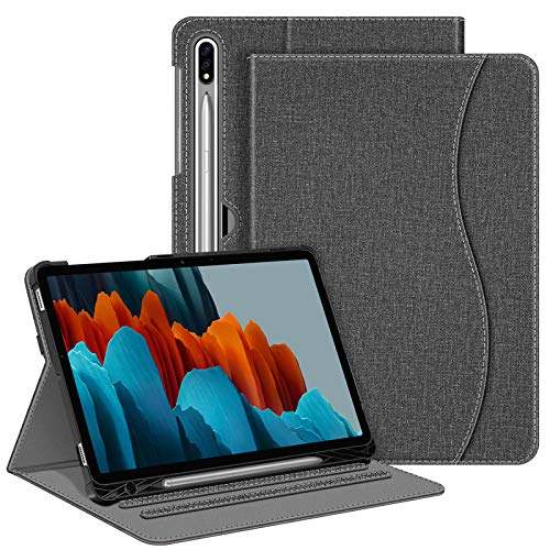 FINTIE Case for Samsung Galaxy Tab S7 11 Inch Tablet 2020 SM-870(Wi-Fi) SM-T875(4G) with Built-in S Pen Holder - Multi-Angle Viewing Folio Stand Cover with Pocket, Auto Wake/Sleep (Gray)