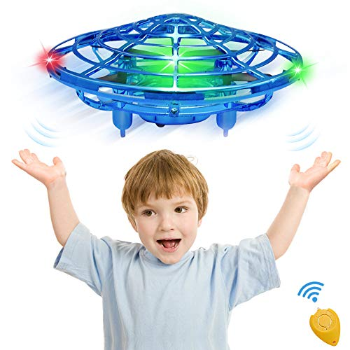 CPSYUB Hand Operated Drones for Kids or Adults, Toys for 4-5 Year Old Boys, Hands Free Kids Drone Toys for Age 3, 4, 5, 6, 7, 8, 9 Boys and Girls, Flying Ball Drone for Kids Toys Gift (Sapphire Blue)
