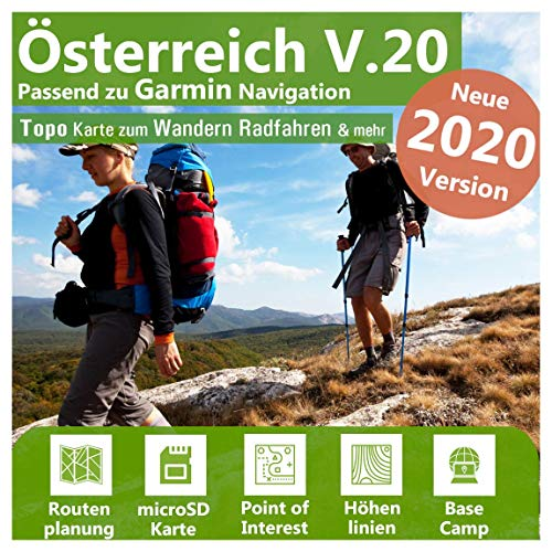 Österreich V.20 - Profi Outdoor Topo Karte passend für Garmin Oregon 400i, Oregon 400t, Oregon 450, Oregon 450t