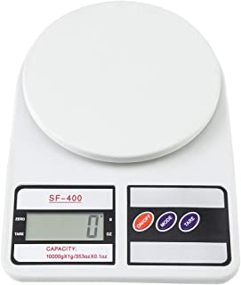 SF-400 10KG / 1g Kitchen LCD Digital Scale White