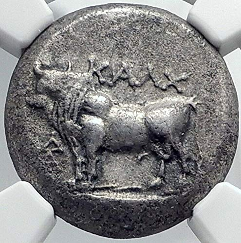 1000 GR KALCHEDON in BITHYNIA Authentic Ancient AR TETRAD Tetradrachm Ch XF NGC