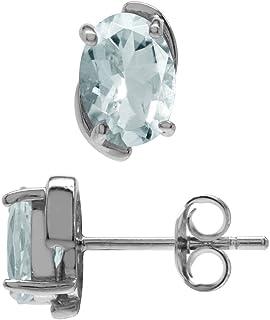 Dark Blue Aquamarine For 7x5 mm Aquamarine Studs TOP Aquamarine 7X5 mm AAA+ Natural AQUAMARINE Oval Gemstones Pair Calibrated Aquamarine