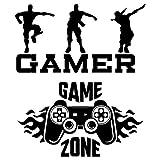 Wandsticker Gamer, 2-teiliges Set