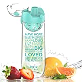 Artoid Mode 1000ml Inspirational & Motivational Fruit Infusion Sports Water Bottle with Time