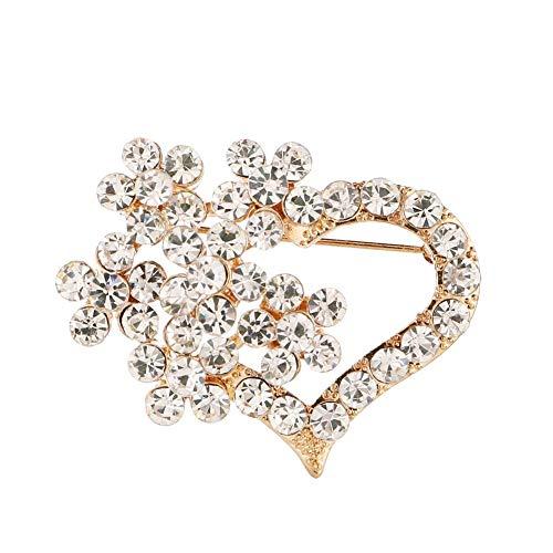 Miss charm Corée du Sud De La Nouvelle Broche Strass De Haute Qualité Big Heart Full Diamond Brooch Pin Broche Mariage Foulard Soie À Double Usage De Boucle