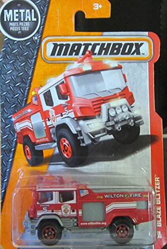 Matchbox 2016 MBX Heroic Rescue Blaze Blitzer Fire Engine 76/125, Red