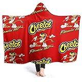 Eppedtul Cheetos Crunchy Flamin Hot Wearable Hooded Throw Blanket Sherpa Blanket Fleece Hooded Blanket 80'' X60