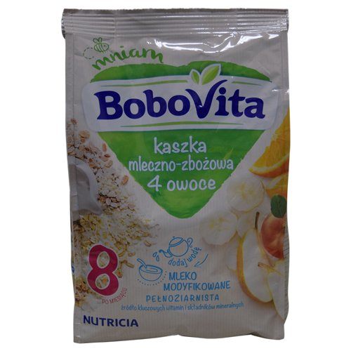 Bobovita Milk and mart Multigrain Cereal with 5 ☆ very popular Fruits 8.1 oz 4 230G