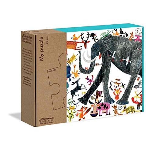 Clementoni - 16217 - My Puzzle - Zampe, c'è una festa - puzzle bambini 3 anni - puzzle 24 pezzi - materiali 100% riciclati - Play For Future - Made in Italy