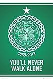 1art1 63157 Fußball Poster - Celtic Glasgow, You'll Never