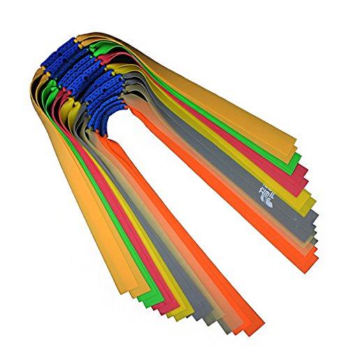QZY 16Pc Slingshot Bandas, Correa De Látex Elástico con 700% Elongación Profesional Slingshot Precisión Accesorios