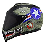 JPFCAK Casco off-Road da Uomo Casco da Uomo Locomotive Rally Casco Integrale Casco Integrale Casco Four Seasons Highway,C-M=57-58cm